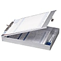 """OIC® Aluminum Storage Clipboard Form Holder, 8 1/2"""" x 12"""", Silver"""