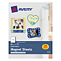 """Avery® Inkjet Magnet Sheets, 8 1/2"""" x 11"""", Pack Of 5 Sheets"""