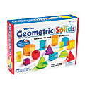 Learning Resources® View-Thru Geometric Solids Set, Assorted Colors, Grades 3 - College