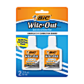 BIC® Wite-Out® Quick-Dry Correction Fluid, 20 mL Bottles, White, Pack Of 2