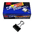 "OIC® Binder Clips, Mini, 9/16"", Black, Box Of 12"