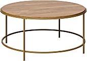 "Sauder® International Lux Coffee Table, 16-3/4""H x 36""W x 36""D, Sindoori Mango/Satin Gold"
