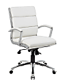 Boss Caressoft Mid-Back Chair, White
