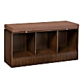 """Honey Can Do Entryway Bench With Storage Shelves, 22-1/8""""H x 44-1/8""""W x 14-9/16""""D, Deep Espresso"""