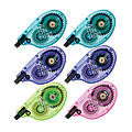 """Tombow® Single-line Bright Dispenser Correction Tapes, Single Line, 0.16"""" x 394"""", Assorted Colors, Pack Of 6"""