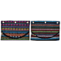 """Inkology Global Binder Pencil Pouches, 10-1/2"""" x 6-3/4"""", Assorted Colors, Pack Of 6 Pouches"""