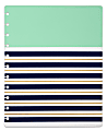 TUL® Discbound Notebook Covers, Letter Size, Mint Stripes, Pack of 2 Covers