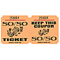 Amscan 50/50 Ticket Roll, Orange, Roll Of 1,000 Tickets