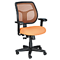 Raynor® Eurotech Apollo Mesh/Fabric Synchro Tilt Task Chair, Orange/Black