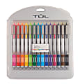 TUL® Retractable Gel Pens, Bold Point, 1.0 mm, Silver Barrel, Assorted Ink Colors, Pack Of 14 Pens