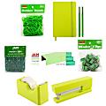 JAM Paper® Complete 9-Piece Desk Kit, Green