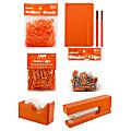 JAM Paper® Complete 9-Piece Desk Kit, Orange