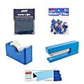 JAM Paper® 5-Piece Office Starter Kit, Blue