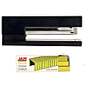 JAM Paper® 2-Piece Office Stapler Set, 1 Stapler & 1 Pack of Staples, Black/Yellow