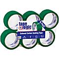 """Tape Logic® Carton-Sealing Tape, 3"""" Core, 2"""" x 55 Yd., Green, Pack Of 6"""