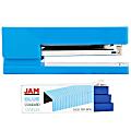 JAM Paper® 2-Piece Office Stapler Set, 1 Stapler & 1 Pack of Staples, Blue