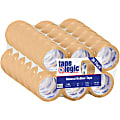 """Partners Brand Natural Rubber Carton Sealing Tape, 2.2 Mil, 2"""" x 55 Yd., Clear, Case Of 36"""