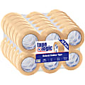 """Partners Brand Natural Rubber Carton Sealing Tape, 2.2 Mil, 2"""" x 110 Yd., Clear, Case Of 36"""