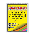 "Top Notch® Brite Chart Tablets, 24"" x 32"", 1 1/2"" Ruled, Assorted Colors, Pack Of 2"