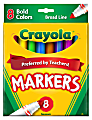 Crayola® Broad Line Markers, Assorted Bold Colors, Box Of 8