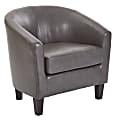 Ave Six Work Smart™ Ethan Tub Chair, Pewter/Dark Espresso