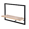 Honey Can Do Horizontal Floating Wall Shelf, Black