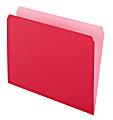Pendaflex® Straight-Cut Color File Folders, Letter Size, Red, Box Of 100