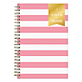 """Day Designer Academic Daily/Monthly New Pink Stripe Planner, 5"""" x 8"""", July 2019 to June 2020"""