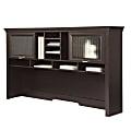 """Realspace® Magellan Performance 71""""W Hutch For L-Shape Desk, Espresso"""