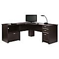"Realspace® Magellan Performance 71""W L-Shape Corner Desk, Espresso"