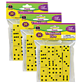 """Teacher Created Resources Foam Traditional Dice, 3/4"""", Yellow, Grades K-4, 20 Dice Per Pack, Case Of 3 Packs"""
