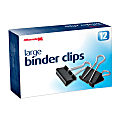 """OIC® Binder Clips, Large, 2"""", Black, Box Of 12"""