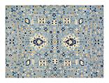 """Anji Mountain Tabriz Rug'd Chair Mat, 1/2""""H x 36""""W x 48""""D, Blue/Beige/Gold"""