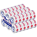 "Tape Logic® Pre-Printed Carton Sealing Tape, ""Stop If Seal Is Broken"", 2"" x 110 Yd., Red/White, Case Of 36"