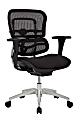 WorkPro® 12000 Series Ergonomic Mesh/Fabric Mid-Back Chair, Black/Black