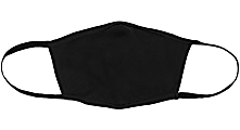 Bella + Canvas Reusable 2-Ply Cloth Face Masks, Black, S/M, Pack Of 3