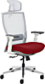 True Commercial Pescara High-Back Executive Chair, Red/Off-White