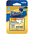 """Brother® M-2312PK Label Maker Tapes, 1/2"""" x 26 3/16', White, Pack Of 2"""
