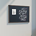 U Brands Magnetic Chalkboard, 48 X 36, Brown Rustic Decor MDF Frame
