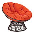 Office Star™ Papasan Chair, Orange/Gray