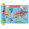 """Round World Products Kid's Wall Map, World, 24"""" x 36"""""""