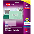 """Avery® Easy Peel® Clear Inkjet Shipping Labels, 8663, 2"""" x 4"""", Box Of 250"""