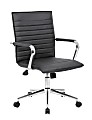 Boss Office Products Sleek Ribbed Task Chair, Black