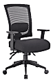 Boss Office Products Mesh-Back 3-Paddle Task Chair, Black