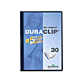 """Durable Duraclip® 30 Report Covers, 8 1/2"""" x 11"""", Navy"""