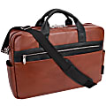 """McKleinUSA Southport Briefcase With 17"""" Laptop Pocket, Brown"""