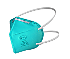 BYD Care Non-Medical Disposable N95 Respirator Face Masks, Adult Size, Teal, Box Of 20