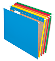 Office Depot® Brand Hanging File Folders, Letter Size, 100% Recycled, Assorted Colors, Box Of 25