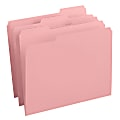 Smead® Color File Folders, With Reinforced Tabs, Letter Size, 1/3 Cut, Pink, Box Of 100
