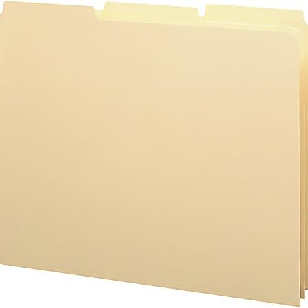Smead® 1/3-Cut Manila Self Tab File Guides, Letter Size, Manila, Box Of 100